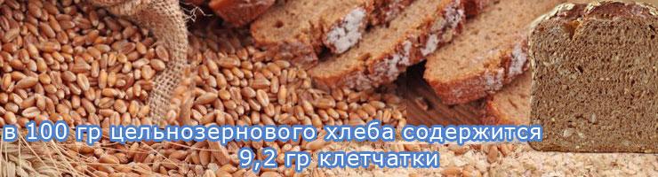 Клетчатка в цельнозерновом хлебе