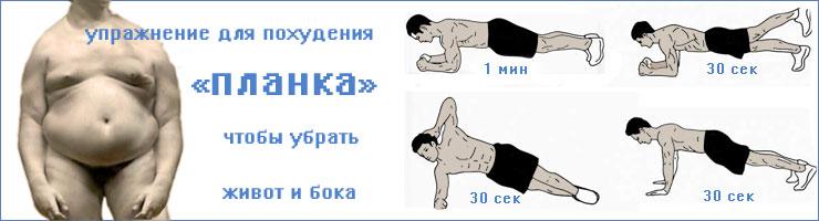 Упражнение планка для пресса похудение